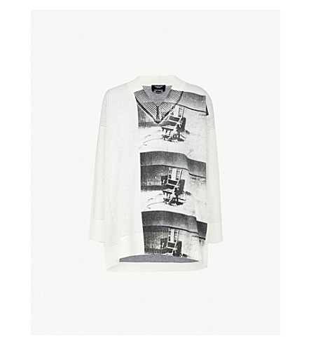 b919148b07 ... CALVIN KLEIN 205W39NYC Andy Warhol-print oversized chunky-knit sweater  (White. PreviousNext