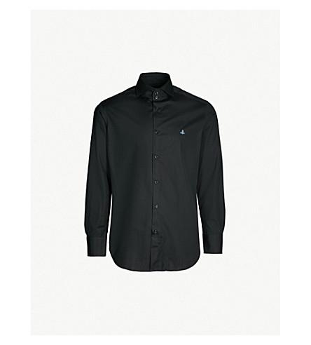 83181925a7d5 VIVIENNE WESTWOOD - Logo-embroidered classic-fit cotton-poplin shirt ...