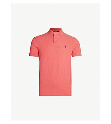 93470650b4a0 ... POLO RALPH LAUREN Logo-embroidered cotton-piqué polo shirt  (Highland+rose+. PreviousNext