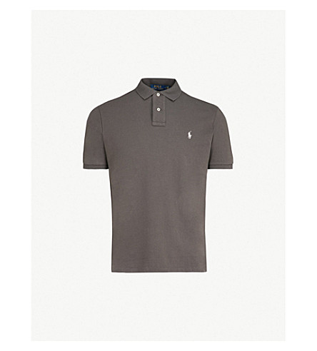 39e5b2f556a4 ... POLO RALPH LAUREN Custom slim-fit cotton-piqué polo shirt (Black+mask.  PreviousNext