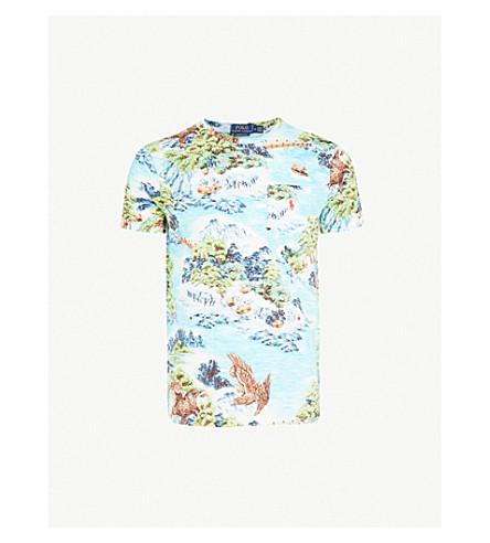 POLO RALPH LAUREN - Hawaiian-print cotton-jersey T-shirt ... f41223291232
