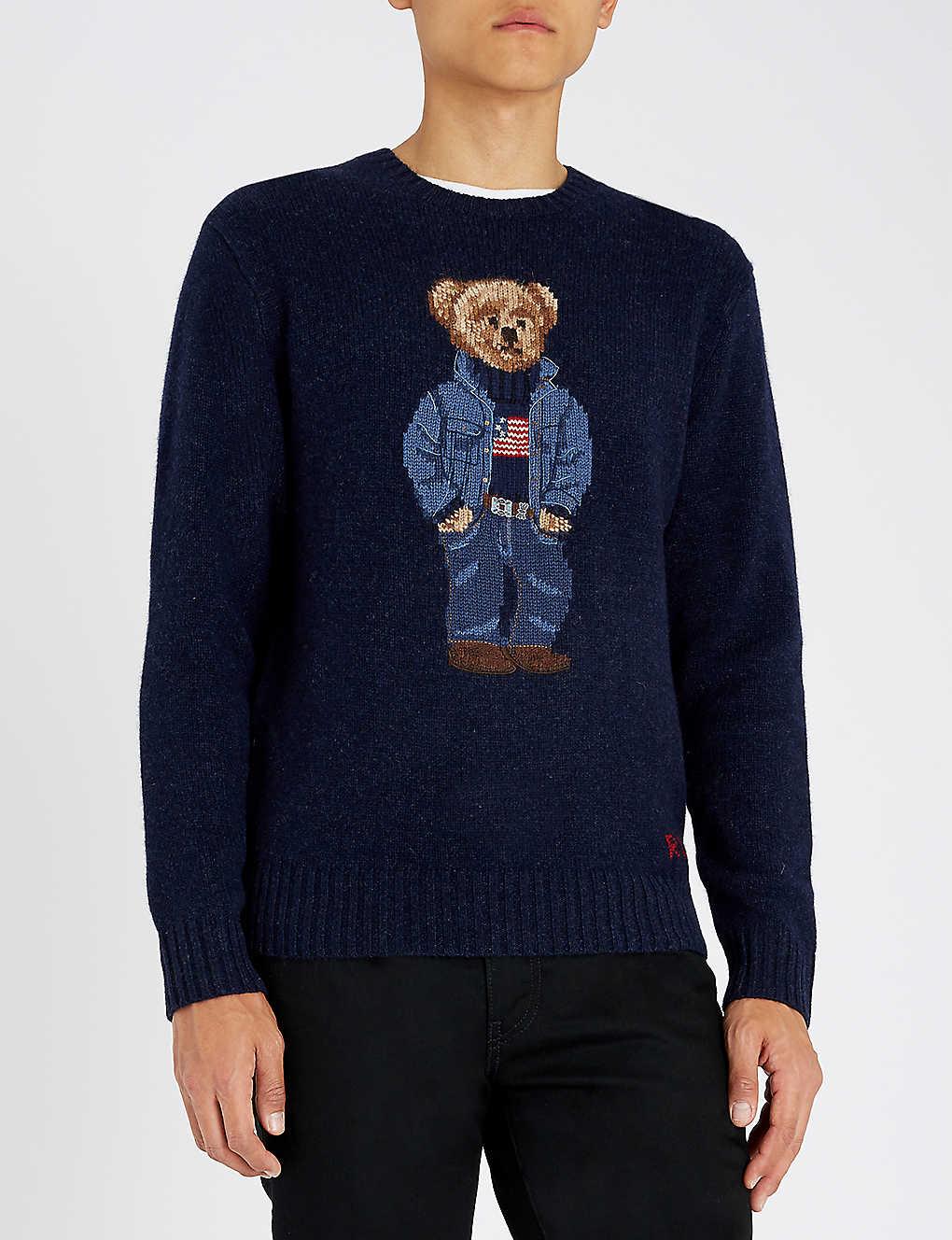 a3e37d59c34ed POLO RALPH LAUREN - Teddy Bear intarsia-knit wool jumper ...