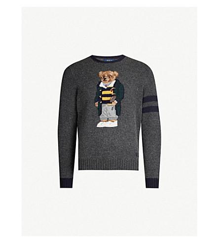53d354a496 POLO RALPH LAUREN - Bear-embroidered wool jumper
