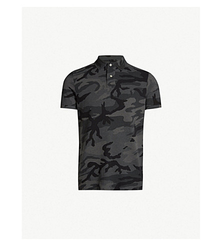 7668964f6047 POLO RALPH LAUREN - Camouflage-print cotton-piqué polo shirt ...