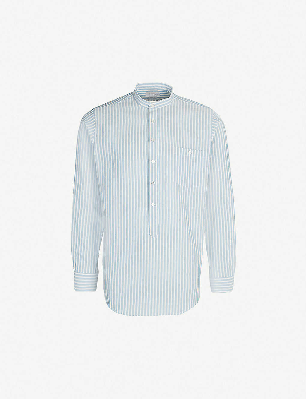 52f5d8c527 RICHARD JAMES - Striped classic-fit cotton and linen-blend shirt ...