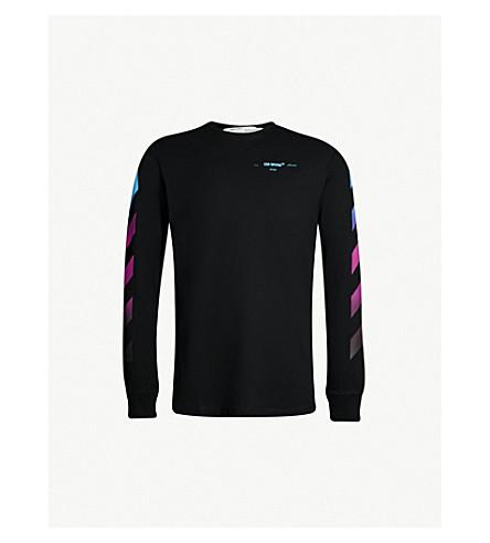 7a39f1bd594 OFF-WHITE C O VIRGIL ABLOH - Logo-print cotton-jersey top ...