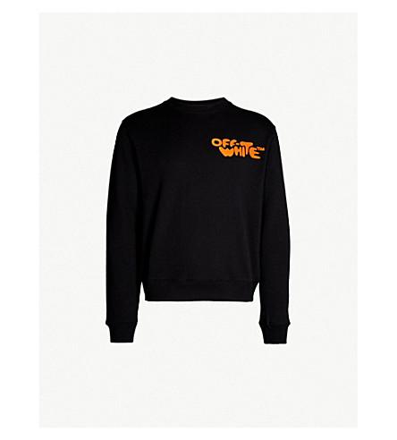 1328e9380e OFF-WHITE C O VIRGIL ABLOH - Logo-print cotton-jersey sweatshirt ...
