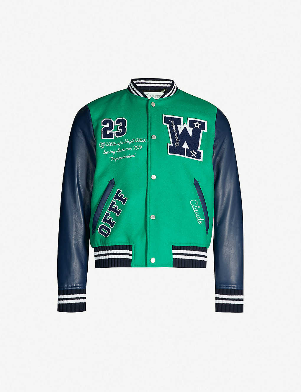 d992a97ab46d OFF-WHITE C O VIRGIL ABLOH - Logo-appliqué brushed wool-blend and ...