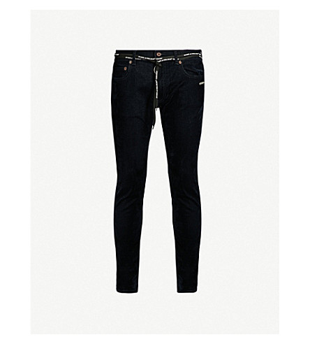 21c3eb3e17d3 ... OFF-WHITE C O VIRGIL ABLOH Slim-fit straight velvet jeans (Blue.  PreviousNext