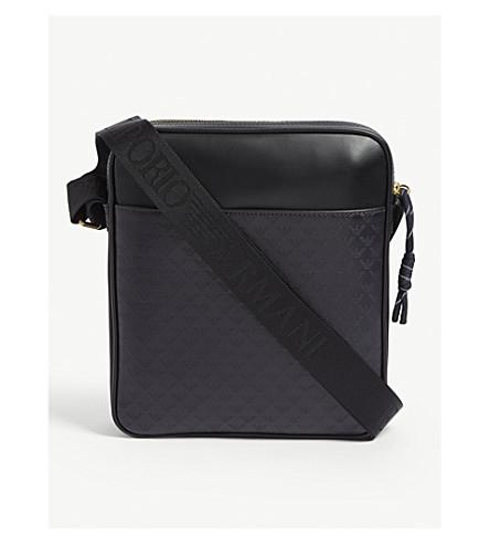 a60e593c27 ... EMPORIO ARMANI Logo leather shoulder bag (Navy. PreviousNext