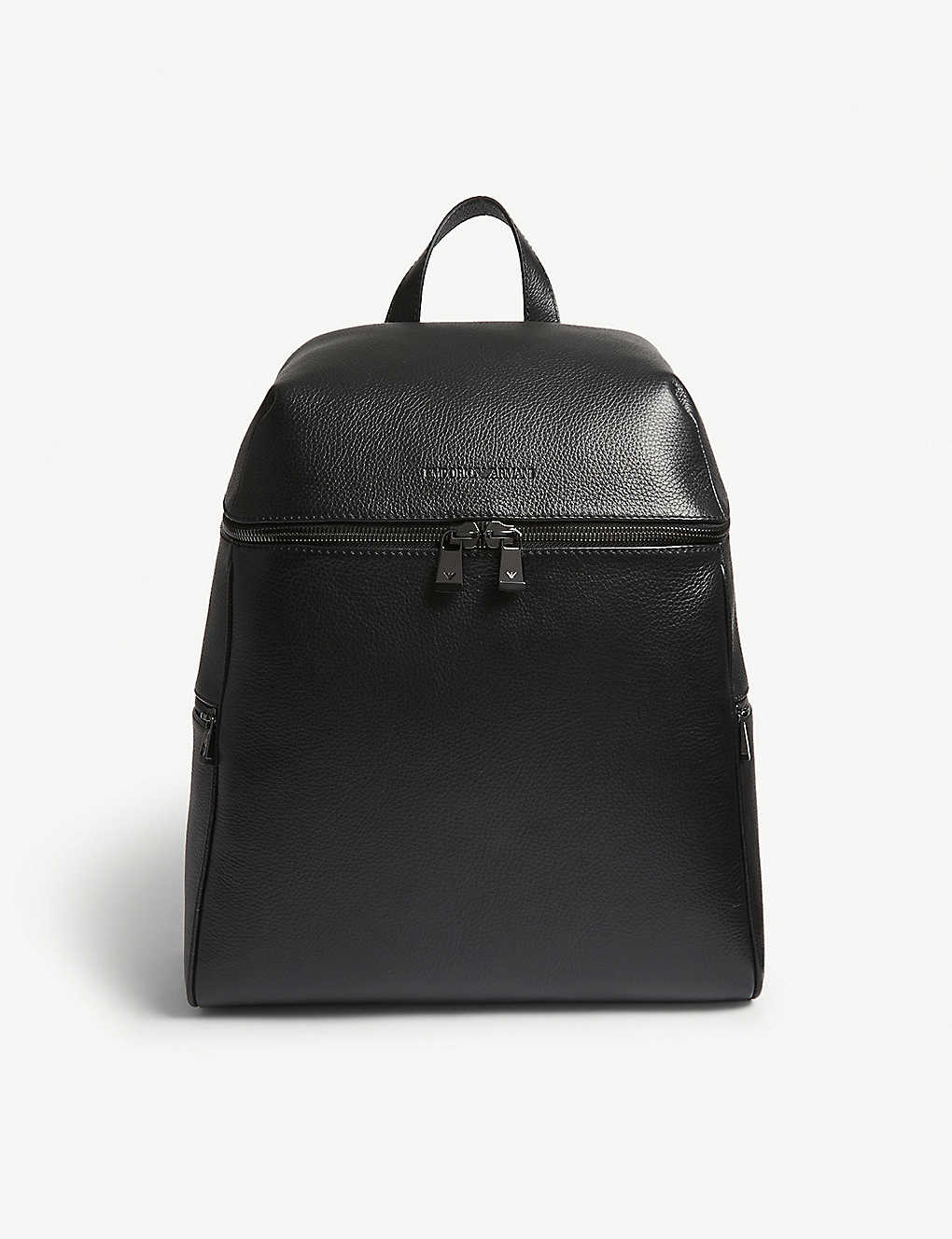 EMPORIO ARMANI - Grained leather backpack  dec35de6cc486