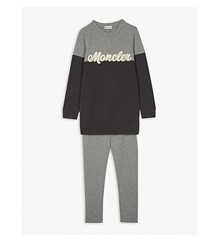 f464dedc0 MONCLER - Logo-embroidered cotton-fleece sweatshirt   leggings set 4 ...
