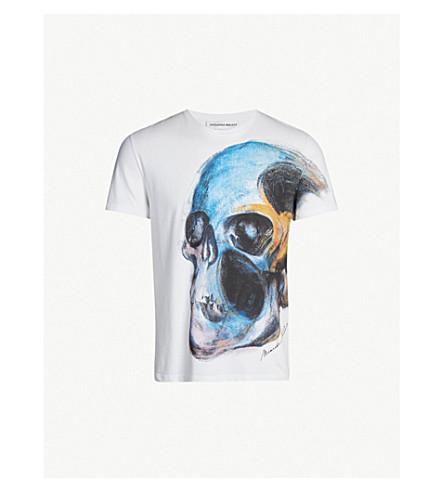 Skull Print Cotton Jersey T Shirt by Alexander Mcqueen