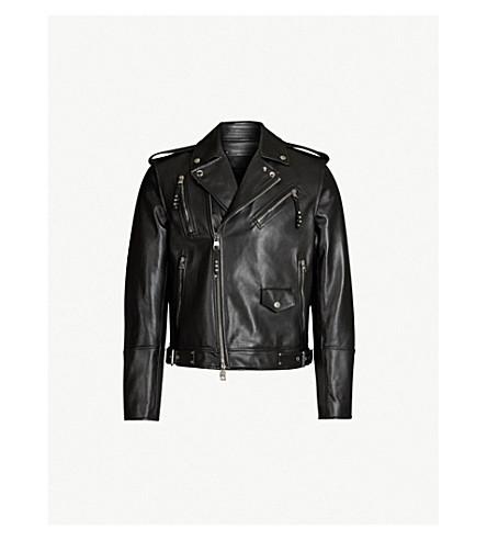 ... ALEXANDER MCQUEEN Asymmetric leather biker jacket (Black. PreviousNext e642985e14a