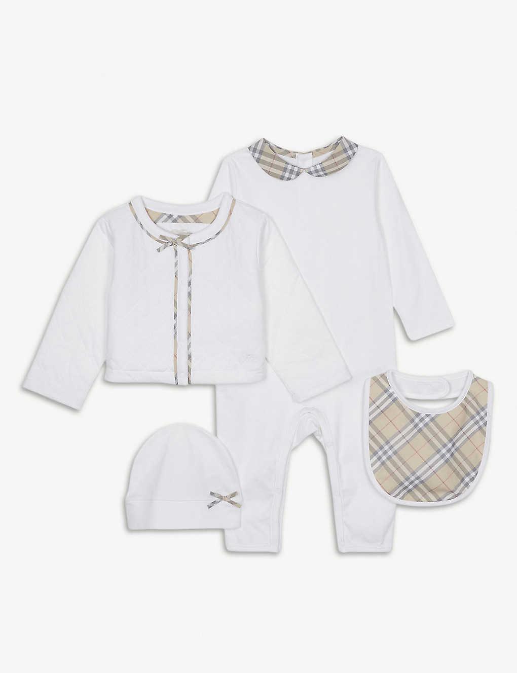 7dd6516b6c1ea BURBERRY - Zaria cotton four-piece baby set 1-6 years