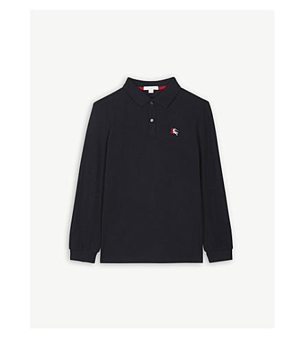 5da97fda9dbd BURBERRY - Logo long-sleeve polo shirt 8-14 years