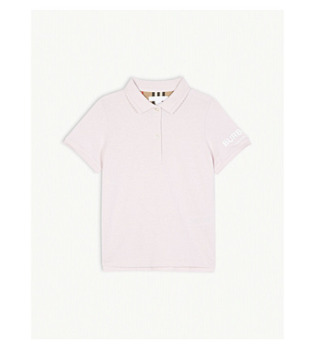 83927f8ab53f ... BURBERRY Scalloped collar cotton polo shirt 3-14 years (Ice+pink.  PreviousNext