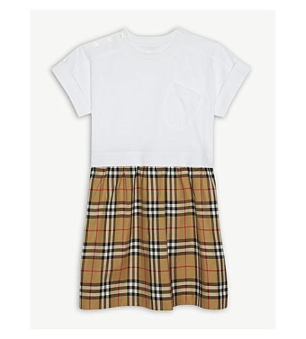 49213130089c ... BURBERRY Vintage check cotton dress 3-14 years (White. PreviousNext
