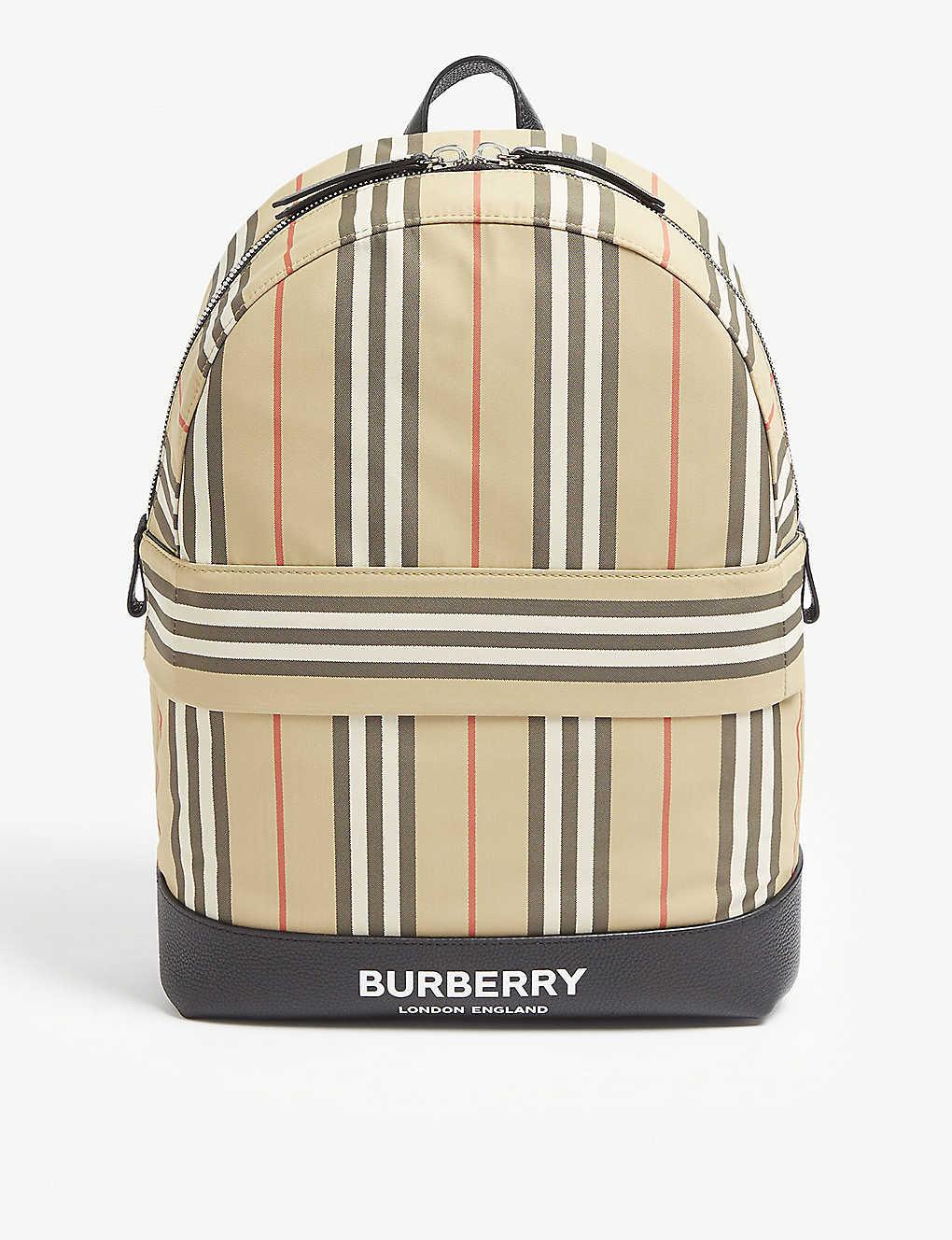c05b311a5b7c BURBERRY - Icon stripe nylon backpack