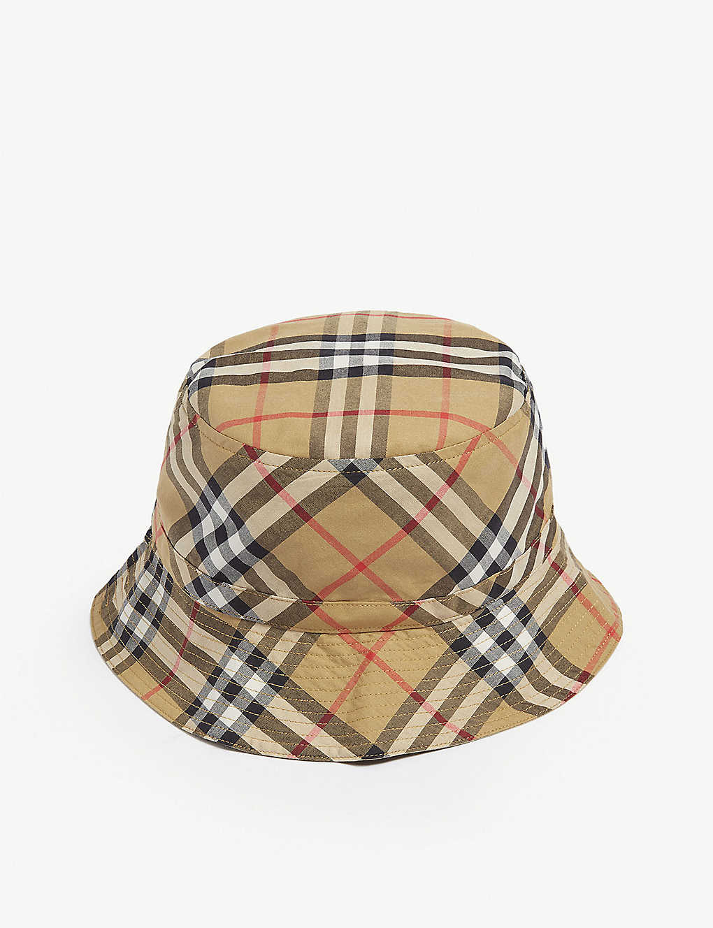 a6b7fec6369 BURBERRY - Check bucket hat
