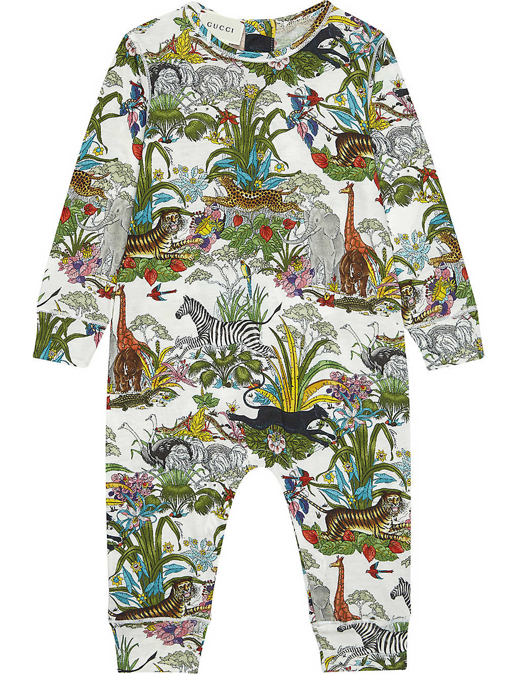44e3ef2caed GUCCI - Jungle print baby-grow 0-12 months