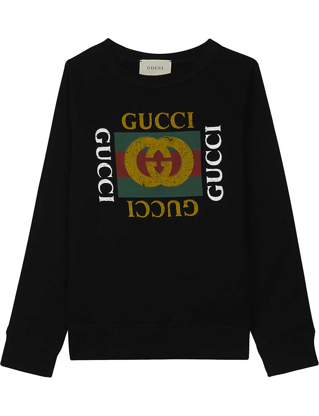 fff987e3dbc GUCCI -  GG  logo cotton sweatshirt 4-12 years