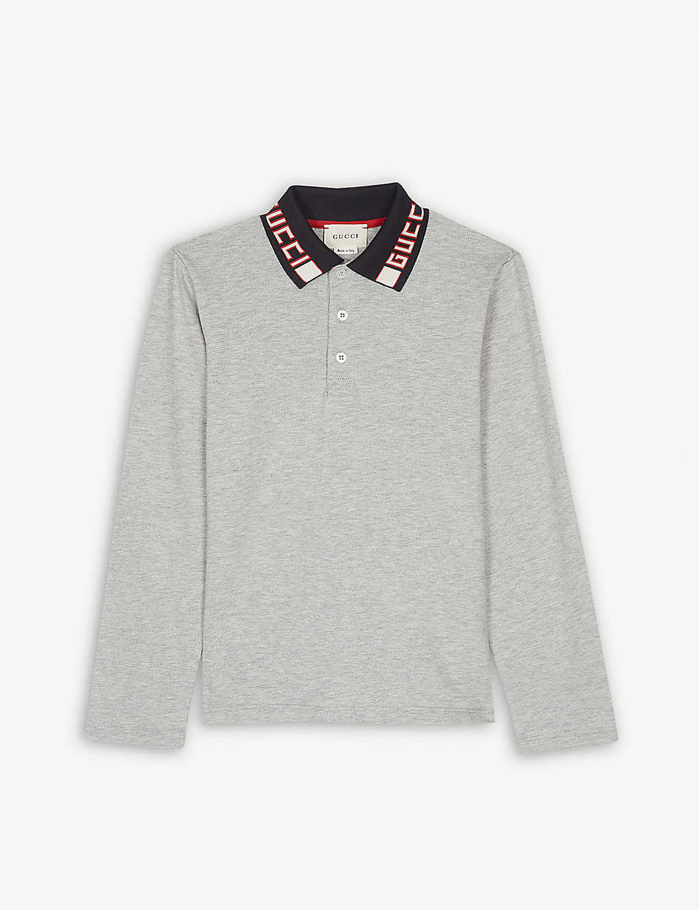 b670494c6e6 GUCCI - Long-sleeved polo shirt (4-12 years)