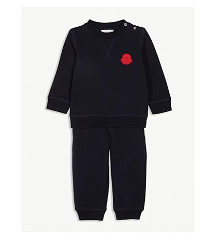 2fe219ba1 MONCLER - Logo patch cotton-blend tracksuit 3-36 months