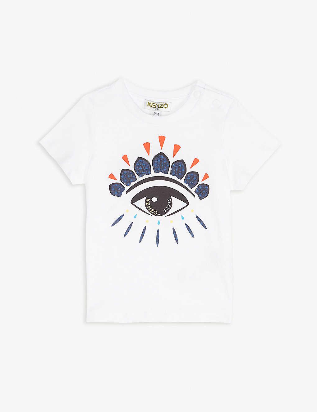 07d3a7ca6 KENZO - Eye logo cotton T-shirt 6-18 months   Selfridges.com