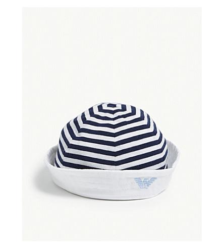 5ed515883fa ... EMPORIO ARMANI Sailor hat (Navy. PreviousNext