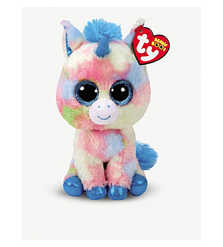 TY - Blitz Beanie boo unicorn soft toy 15cm  2ad6eb7451b8