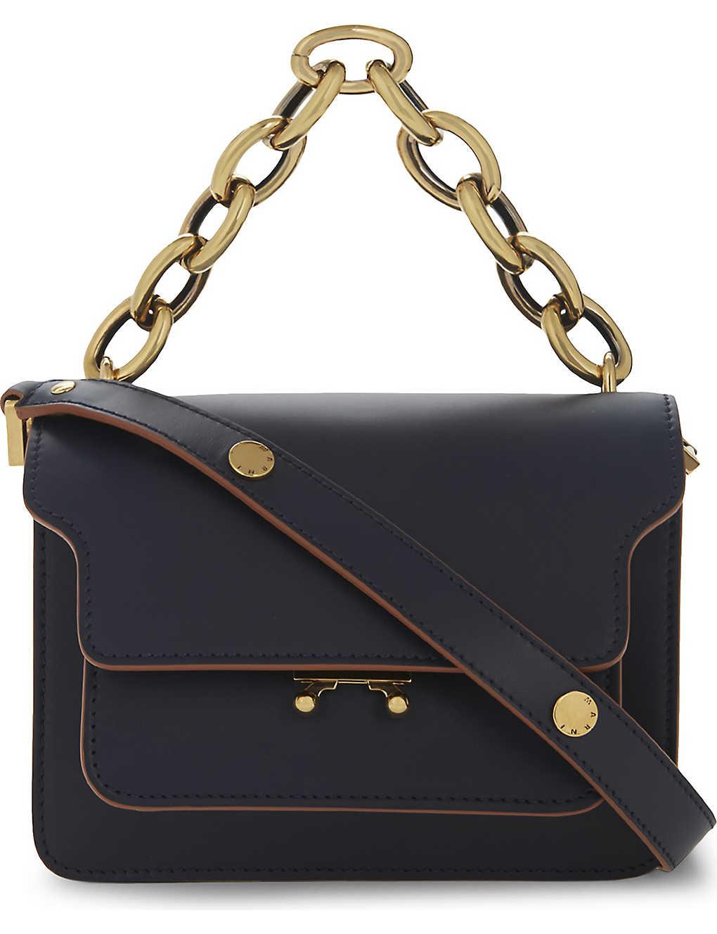 MARNI - Trunk mini smooth calf leather shoulder bag  16e0547c1d013