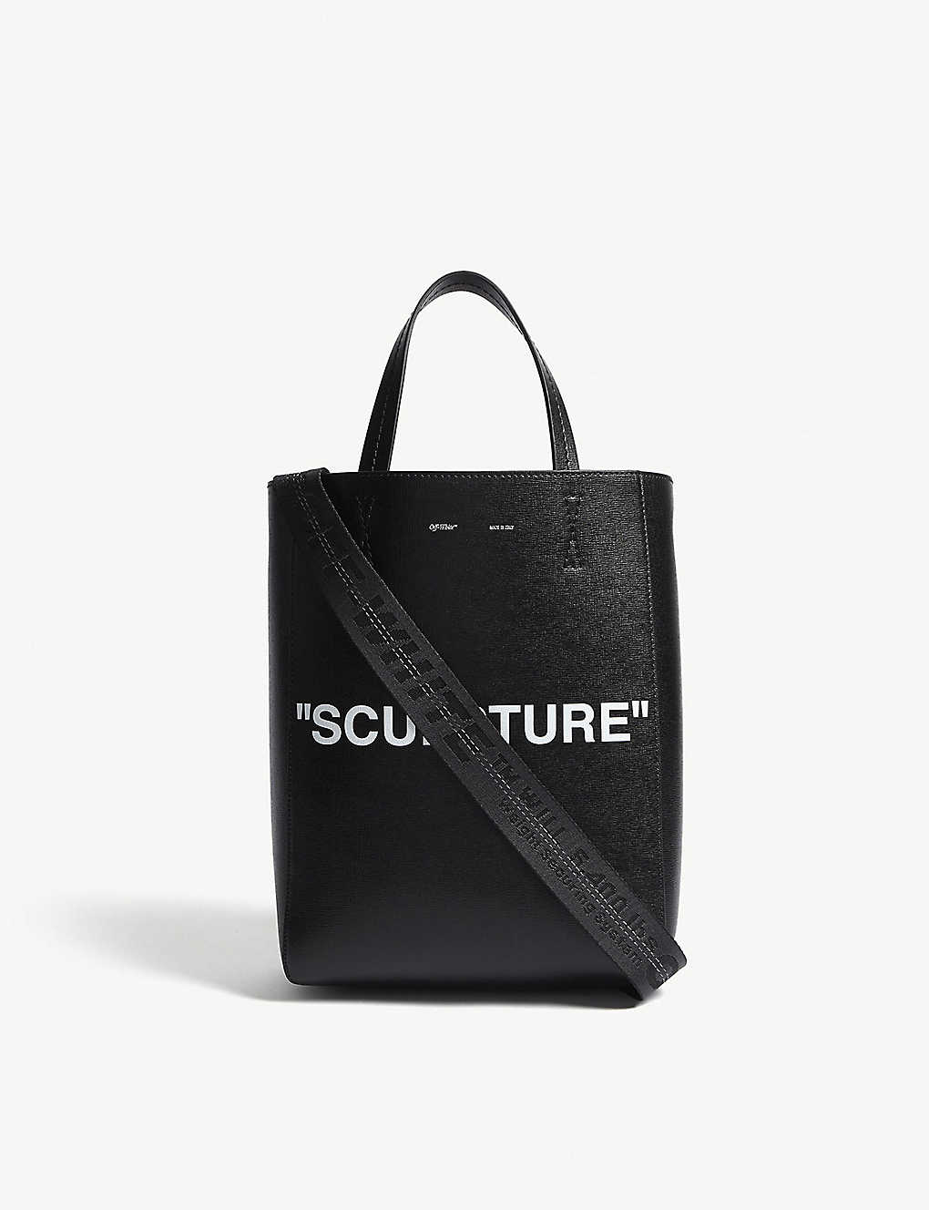 7a77da249331 OFF-WHITE C O VIRGIL ABLOH - Sculpture medium leather tote ...
