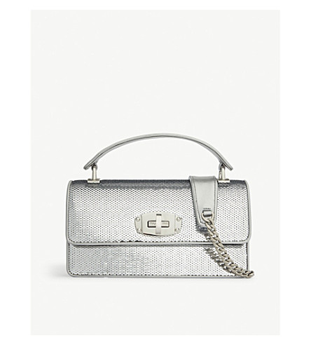 4578df594a6 ... MIU MIU Sequinned leather shoulder bag (Silver. PreviousNext