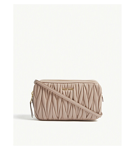 ... MIU MIU Matelassé leather cross-body bag (Nude. PreviousNext 17d75ad36093c