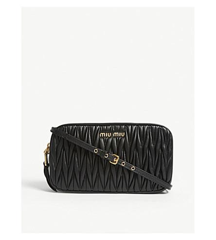 b64c1510b37f ... MIU MIU Matelassé leather shoulder bag (Black. PreviousNext