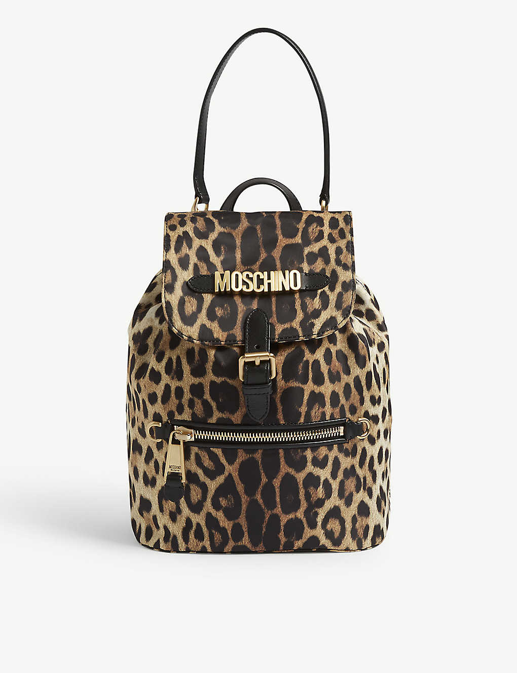 MOSCHINO - Leopard print nylon backpack  c7cd7632edd7c