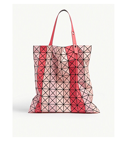 ... BAO BAO ISSEY MIYAKE Striped Prism tote bag (Pink+mix. PreviousNext 9e09fde1b27fa