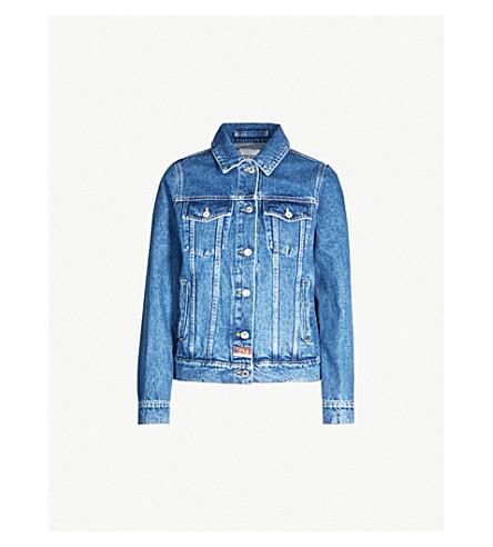 7ef190a50b ... KENZO Tiger-embroidered denim jacket (Blue. PreviousNext