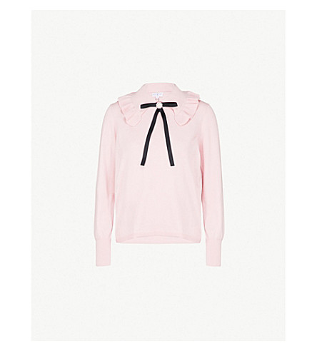 Mutine Bow Detail Wool Blend Sweater by Claudie Pierlot