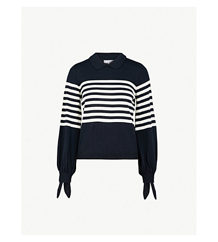 Striped Wool Sweater by Claudie Pierlot