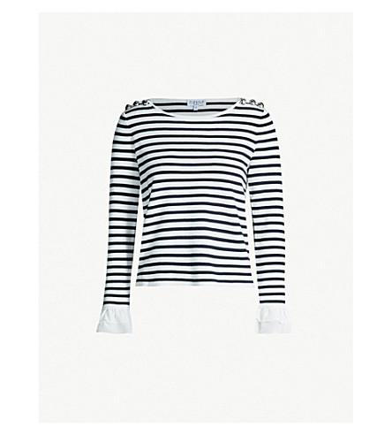9b4ce9e32 CLAUDIE PIERLOT - Metal striped cotton sweater