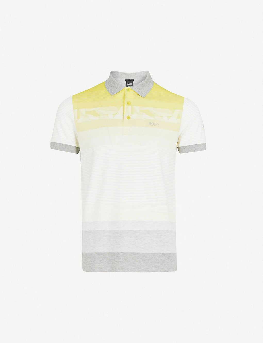 cbc774f13 BOSS - Striped cotton-piqué polo shirt | Selfridges.com