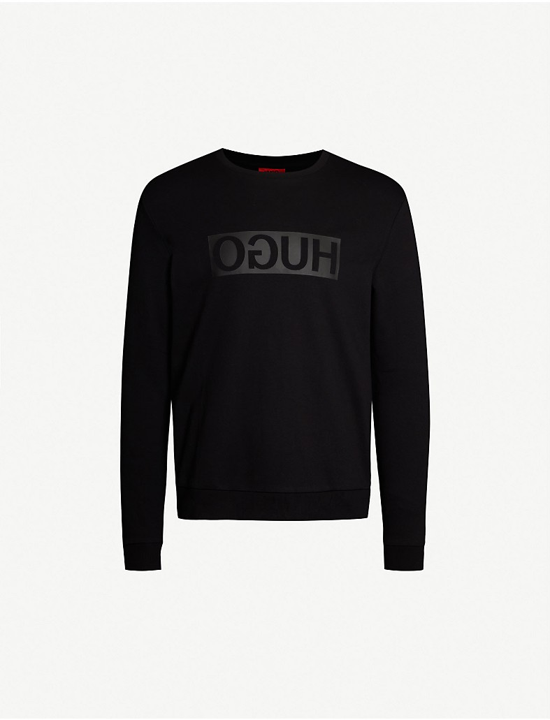 c318b870 HUGO - Reverse Logo cotton-jersey sweatshirt | Selfridges.com