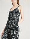 6cf3c2a5ba36 ... WHISTLES Lienne Gobi-print jumpsuit (Monochrome ...