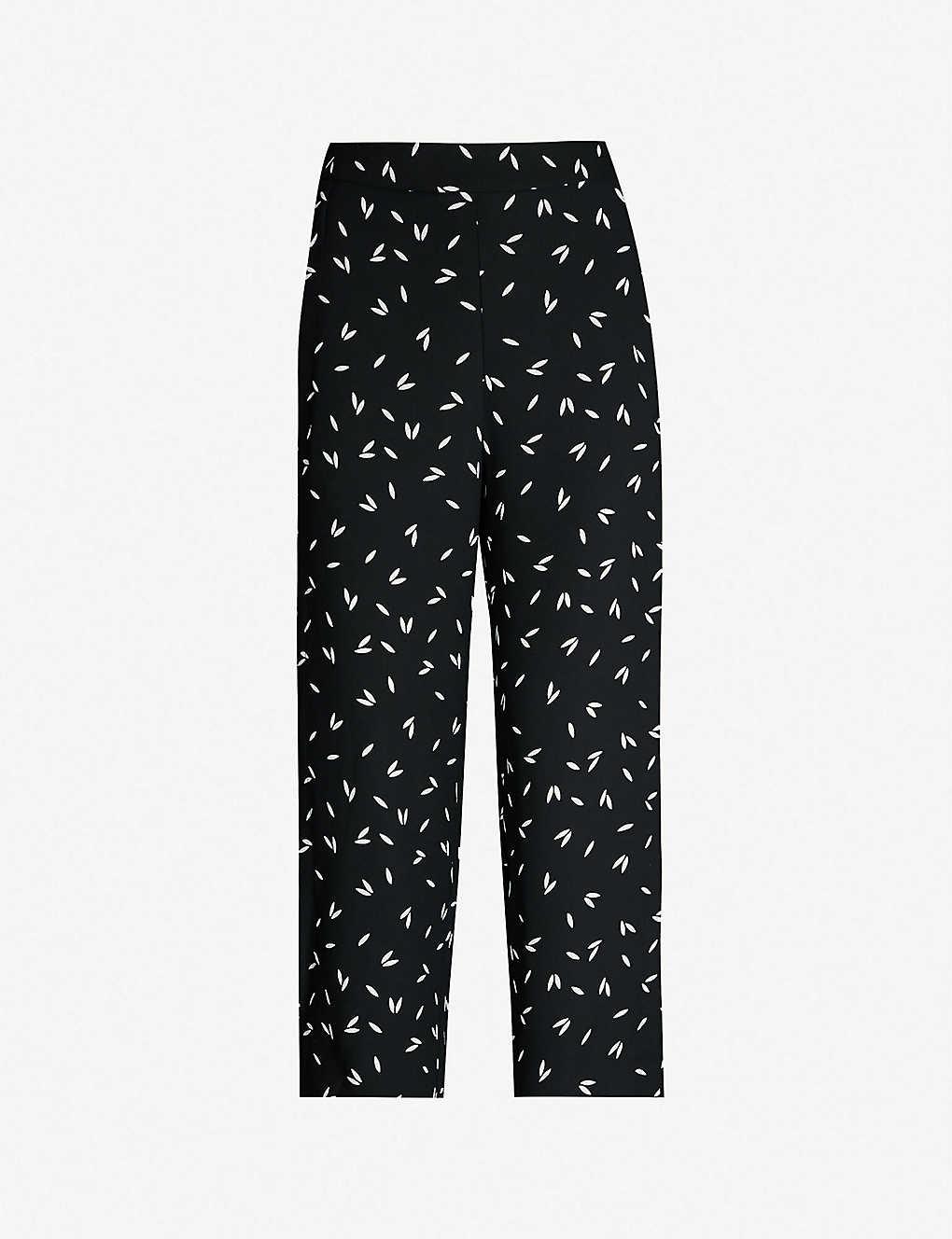693cc69f0edf3 WHISTLES - Cropped high-rise printed crepe wide-leg pants ...