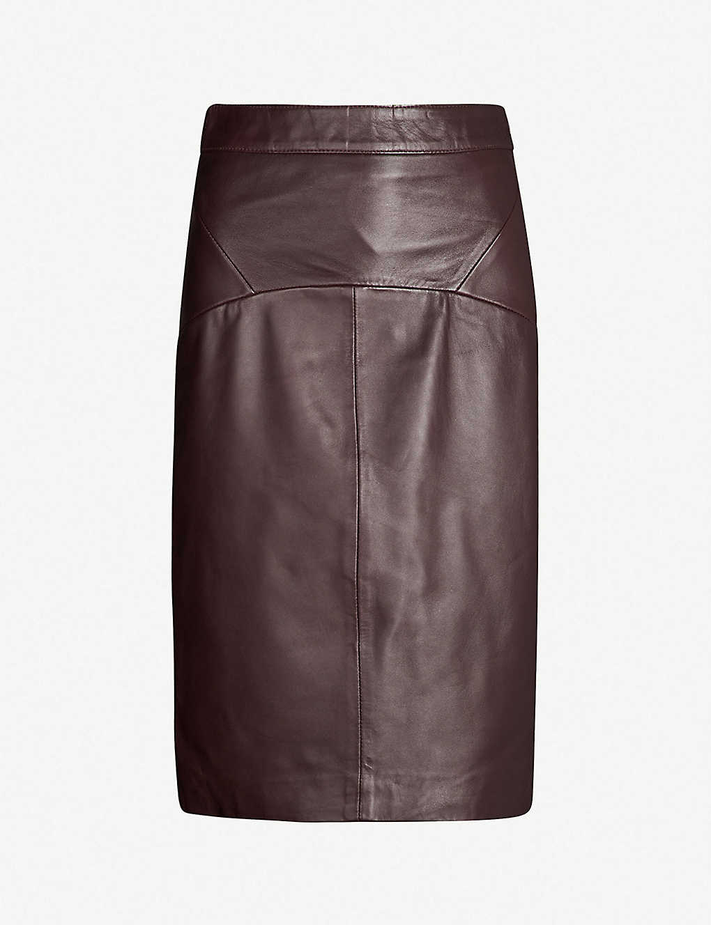4518e73ac0c1 WHISTLES - Kel high-waist leather pencil skirt