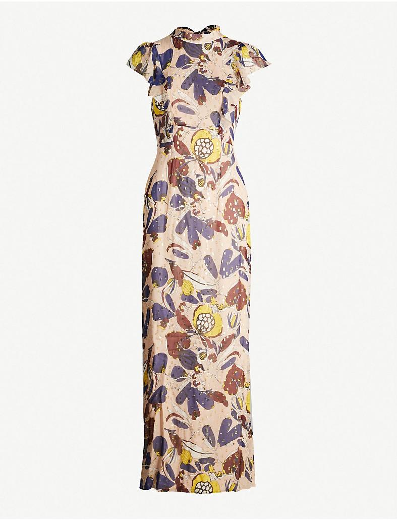 c3ecfe8f1c2d WHISTLES - Bernadette Montrose-print silk-chiffon dress