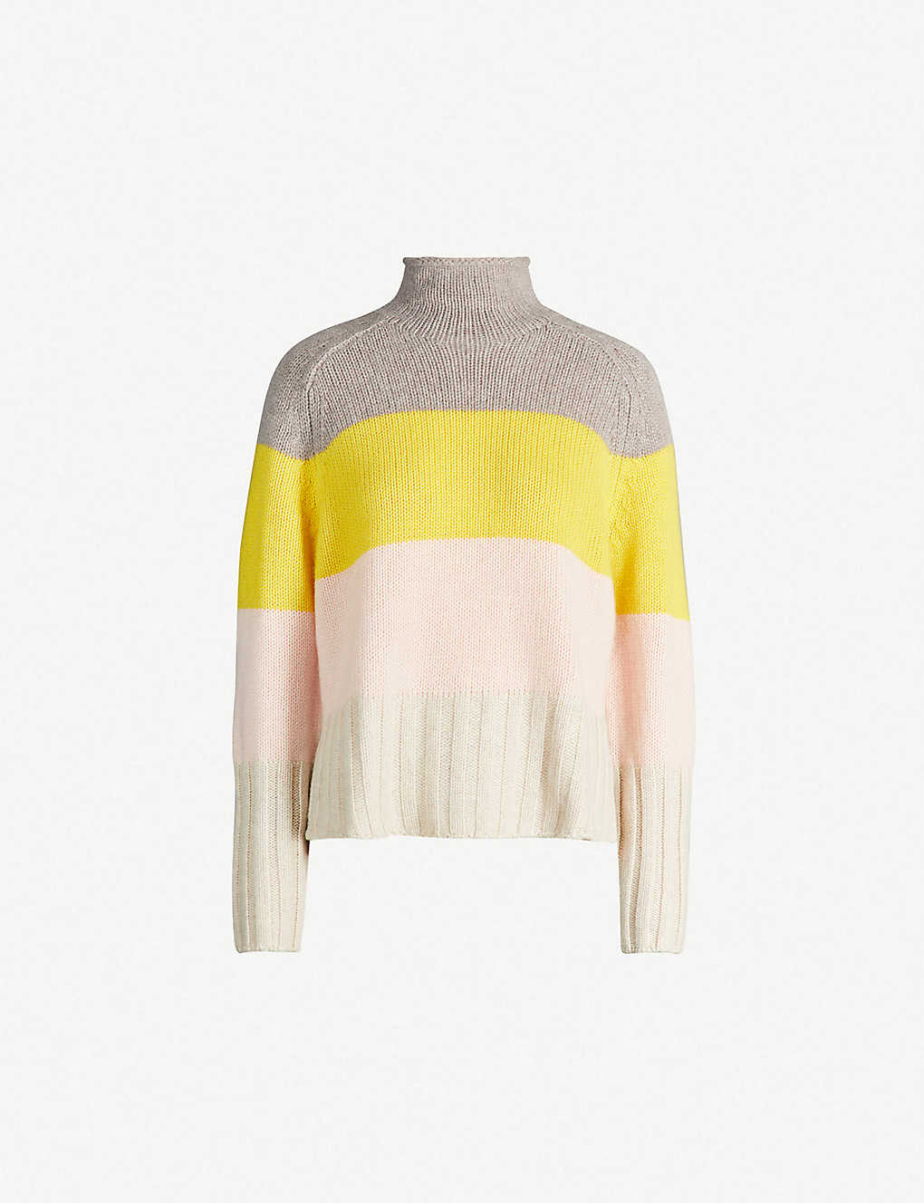 6e9cab347 WHISTLES - Striped cashmere-knit sweater