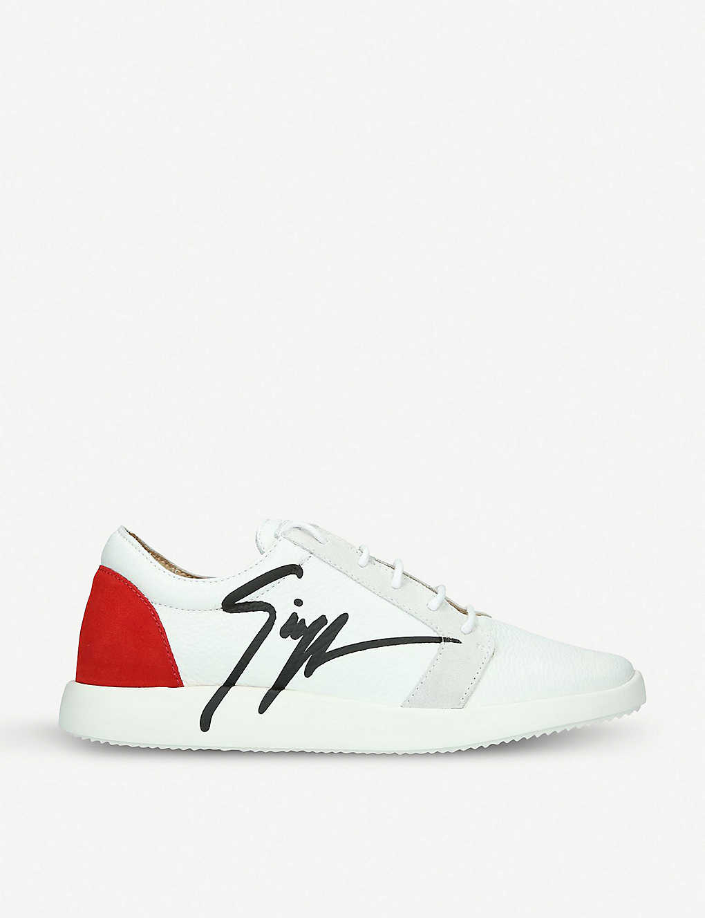 0555a5e02f09 Giuseppe Zanotti G Runner leather and suede sneakers Latest Best ...